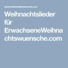Weihnachtslieder für ErwachseneWeihnachtswuensche.com