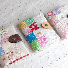 カードケース用パターン&レシピセット - パッチワークキルトと生地、キット、副資材のお店 Quilt furniture Qufu
