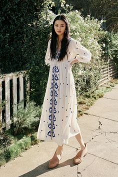 Embroidered Fable Dress | Free People