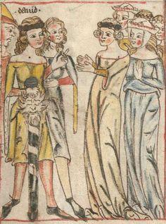 Armenbibel in 41 Darstellungen ungefähr zwischen 1360 und 1375 Cgm 20 Folio 9r
