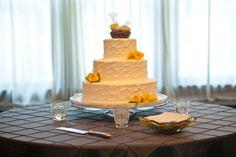 Nashville Garden Wedding Venue | CJ's Off the Square | Bird's Nest Cake Topper | Wedding Cakes - Photo: Mandy Whitley