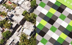 photographer Joseph Ford combined his aerial landscapes, taken in Morocco, Sicily, Sardinia and Mauritius with textures and colours of clothing by Missoni, Boss, Kenzo, APC, Herno, Woolrich and Swatch, selected in collaboration with stylist Almut Vogel.