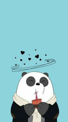 I love a pandas 😍😍😍 on We Heart It Cute Panda Wallpaper, Cartoon Wallpaper Iphone, Bear Wallpaper, Cute Disney Wallpaper, Kawaii Wallpaper, Animal Wallpaper, Wall Wallpaper, Wallpaper Samsung, Silver Wallpaper