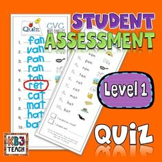 Word Families Quiz Packet (Dictation & Student Self-Assessment) LEVEL 1 Reading Resources, Reading Strategies, Reading Lessons, Guided Reading, Reading Tutoring, Reading Intervention, Teaching Kindergarten, Elementary Teaching, Preschool