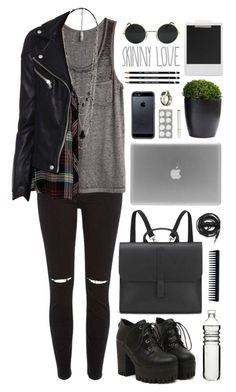 """""""grunge"""" by just-nothing ❤ liked on Polyvore featuring River Island, H&M, Unearthen, Sagaform, Polaroid, Danielle Foster, Urbanears, GHD, Tavik Swimwear and Forever 21"""