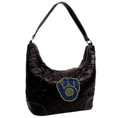 Milwaukee Brewers MLB Sport Noir Quilted Hobo