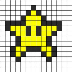 Mini Star Perler Bead Pattern / Bead Sprite