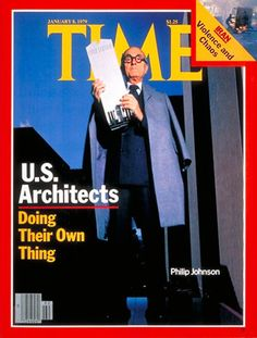 Philip Johnson on the cover of TIME Magazine, Jan. an iconic architect (in iconic glasses btw) holding a model of one of his iconic designs (the AT&T building). Philip Johnson, Book Cover Design, Book Design, Masterplan Architecture, Profession Of Faith, Time Inc, Famous Architects, Time Magazine, Magazine Covers
