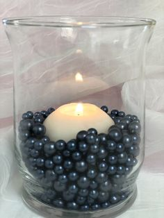 Navy Blue Pearl Confetti Vase Fillers 500pc Small Pearls No Holes