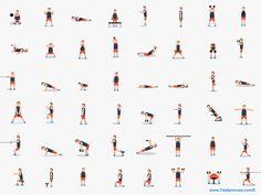 Les graphistes de ccccccc ont créé pour une application ce gif qui montre 48 petits personnages qui font différents exercices de musculation et de fitness. Si vous avez pris une bonne résolution sportive pour la nouvelle année vous n'avez plus qu'à les imiter, personnellement ça m'amuse juste de les voir se dépenser en boucle comme …