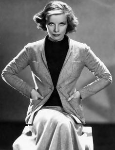 Katharine Hepburn,  early-mid 1930s.  Strong and devoted.