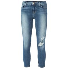 J Brand cropped skinny jeans ($235) ❤ liked on Polyvore