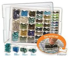 1000 images about craft room and bead organization on for Darice jewelry designer bead storage system with 24 containers