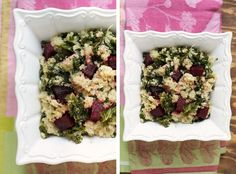 kale, quinoa, roasted beets