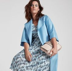 marina rinaldi primavera estate 2017  collezione Fashion Now, Curvy Girl Fashion, Plus Size Fashion, Fashion Looks, Womens Fashion, Ashley Graham, Curvy Outfits, Pretty Dresses, Plus Size Dresses