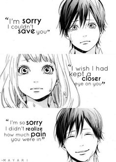 Anime:Orange I think it was released this or either I read the manga and watched the anime. One of my favorite tear-jerking animes. LOL I seem to watch only sad animes. Sad Anime Quotes, Manga Quotes, Sad Quotes, Death Quotes, I Love Anime, Me Me Me Anime, Manga Art, Manga Anime, Takano Ichigo
