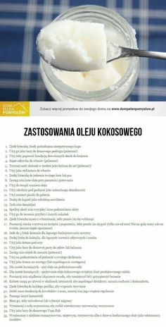 Kliknij i przeczytaj ten artykuł! Healthy Tips, Healthy Recipes, Coconut Recipes, Slow Food, Natural Cosmetics, Health Advice, Good Advice, Health And Beauty, Natural Remedies