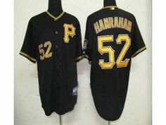 MLB Pirates #52 Joel Hanrahan Black Cool Base Stitched Jersey