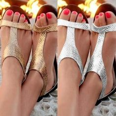 Buy new Women fashion flat Sandals Summer casual Shoes open toe sandals at Wish - Shopping Made Fun T Strap Sandals, Flip Flop Sandals, Gladiator Sandals, Flat Sandals, Flip Flops, Peep Toe, Womens Summer Shoes, Womens Flats, Womens Slippers