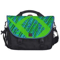 Green Graphics Laptop Bag
