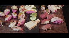 Advertisement for head chef of tomorrow, Johannes Heinz. Sushi and Sashimi preparation. Sashimi, Pork, Videos, Kale Stir Fry, Pigs, Pork Chops
