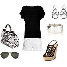 Black & White, created by lacresha1970 on Polyvore