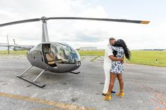 Daniel pops the question to Nia in front of a helicopter at Kissimmee, Florida's MaxFlight helicopters Proposal Photography, Orlando Wedding Photographer, Marriage Proposals, Orlando Florida, Helicopters, In This Moment, Orlando, Proposals