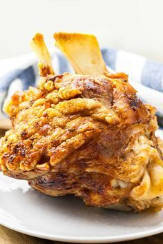 German Pork Hock (Schweinshaxe Recipe) - German Pork Hock, also known as roasted ham hock or Schweinshaxe, is a traditional Bavarian dish th - German Pork Hocks Recipe, Smoked Pork Hocks Recipe, Crispy Pork Hock Recipe, Ham Hock Recipes, Pork Recipes, Vegetarian Recipes, Cooking Recipes, Recipies, Game Recipes