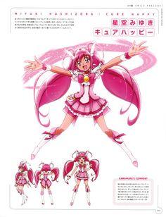 re 285950 character_design hoshizora_miyuki kawamura_toshie pretty_cure smile_precure! Glitter Lucky, Glitter Lips, Glitter Eyeliner, Chibi, Smile Pretty Cure, Futari Wa Pretty Cure, Glitter Images, Happy Images, Disney Artists