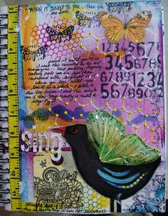 Art journal inspriation. Original pinner sez: art journal page I created - www.justaboutthedetails.com