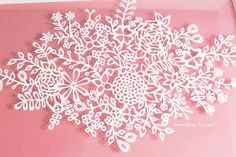 Delicate Flowers Handcut Papercut Art by SomethingtoLove1 on Etsy