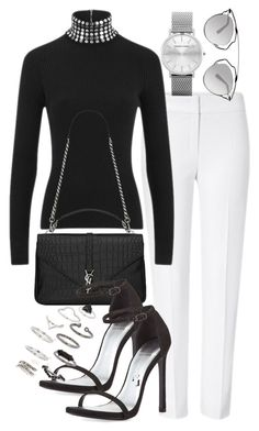 Untitled #297 by christineadel on Polyvore featuring polyvore mode style Alexander Wang ESCADA Stuart Weitzman Yves Saint Laurent Topshop Christian Dior fashion clothing