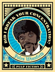 Pulp Fiction. Jules Winnfield in Impressive Vector Movie Posters