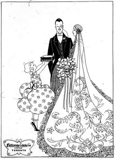 'Wedding Gift' vintage advert by the Patterson Candy Company, c1920s. Image by Jamie (CC-BY).