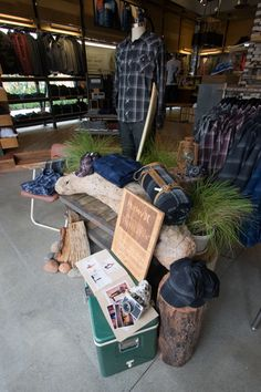 coolers & stumps..great display idea!