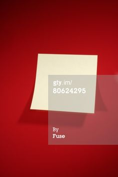 Empty Post It On Red Wall Royalty-free Image | Getty Images | 80624295