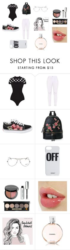 """""""Roses"""" by sydnikkiameandmaddie on Polyvore featuring Vans, Urban Expressions, Ray-Ban, Off-White, Bobbi Brown Cosmetics and Chanel"""