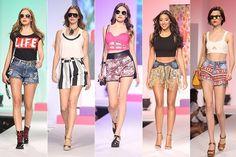 CINTURA ALTA: O shortinho jeans é a escolha da maioria das mulheres na hora de selecionar um look despojado. O estilo da produção acaba definido pelas outras peças, mas uma coisa é certa: o modelo vintage de cintura alta será o favorido da temporada