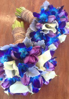 Wedding Bouquetin Blues and Purples. The Wild Orchid Florist, Echuca, Victoria. #blueweddingbouquets