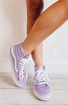 ac8b2d4f18 Vans SK8-Hi Slim Sneaker - Lavender True White Sk8 Hi Vans