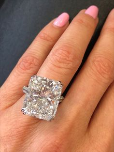 Check out this stunning 20 carat radiant cut diamond engagement ring by Miss Diamond Ring! Enjoy 5 Star✨Engagement Ring Concierge service from one of the leading high jewelry industry experts in the world. Experience the new standard in 💍 ring shopping today. ✨Sparkle@Missdiamondring.com #diamondring #diamondrings #engagementrings #engagementring #proposal #proposalstory #engagement #wedding #weddingproposal#20caratring #20carat #20carats #20caratengagementring #20caratdiamondring… Radient Engagement Rings, Radiant Cut Engagement Rings, Luxury Engagement Rings, Classic Engagement Rings, 20 Carat Diamond Ring, Harry Winston Engagement Rings, Tiffany Engagement, Wedding Proposals, Solitaire Rings