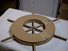 My Pirate Costume Ship's Wheel! – Roxana My Pirate Costume Ship's Wheel! My Pirate Costume Ship's Wheel!: 12 Steps (with Pictures) Pirate Birthday, Pirate Theme, Birthday Board, Card Birthday, Pirate Ship Wheel, Pirate Ships, Pirate Ship Craft, Cardboard Pirate Ship, Diy Cardboard