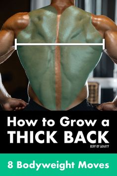 Here are 8 simple bodyweight moves to grow your back muscle. Learn the keys to pull-ups and growing your back at home. Back Workout Men, Back Workout At Home, Workout Plan For Men, Workout Warm Up, Weight Lifting Workouts, Body Weight Training, Health And Fitness Articles, Health Fitness, Fitness Diet