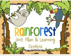 Rainforest Unit Plan: A fun unit jam packed with activities about the rainforest. Includes science, literacy and math activities aligned with the common core standards. 96 pages for only $5.50 on TPT.