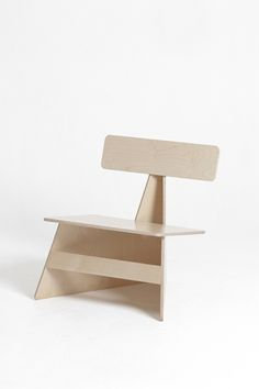 'Four Brothers' a series of chairs made from a single sheet of plywood by Seungji Mun