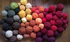 Sedona-inspired palette: yarn made from reycled t-shirts. Love these colors.