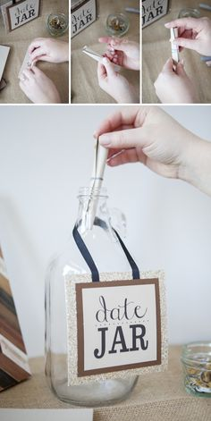 Create your own 'Date Jar Guestbook' with our free printable designs... such an awesome experience to go through after your wedding day!