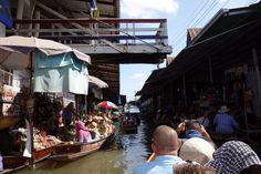 Very early in the morning, the floating market, Thailand.
