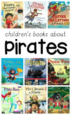 More than 10 children's books about pirates. Perfect for a kindergarten or preschool pirate them, or kids who are obsessed with pirates. Preschool Pirate Theme, Pirate Activities, Preschool Books, Preschool Lessons, Book Activities, Preschool Activities, Preschool Learning, Preschool Teachers, Preschool Printables