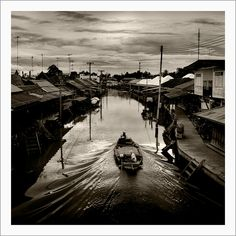 thailand / A klong in Amphawa   by Pierre Beteille